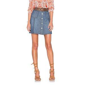Sanctuary Marianne Button Up Denim Skirt size 28